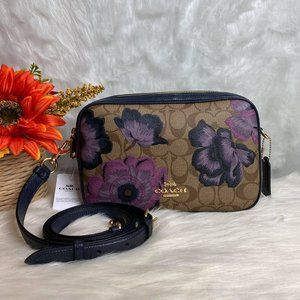 CROSSBODY IN SIGNATURE CANVAS WITH KAFFE FASSETT